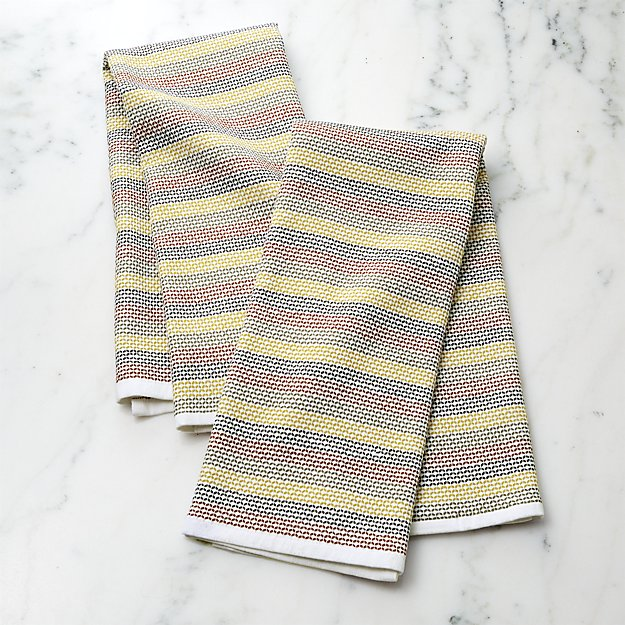 Textured Terry Multi Dish Towels, Set of 2 - Image 1 of 3