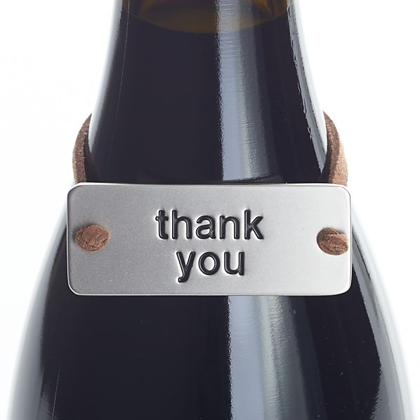 Thank You Bottle Tag