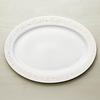 Thankful Oval Turkey Platter