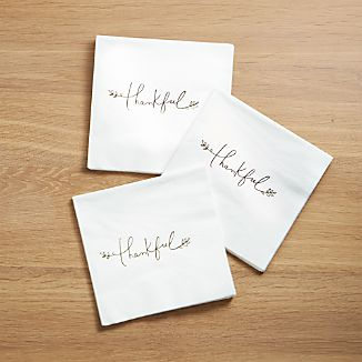 Thankful Paper Lunch Napkins, Set of 20