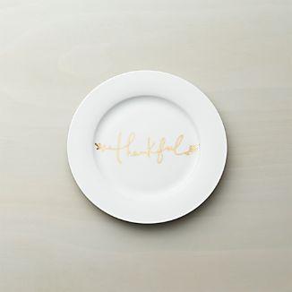Thankful Salad Plate