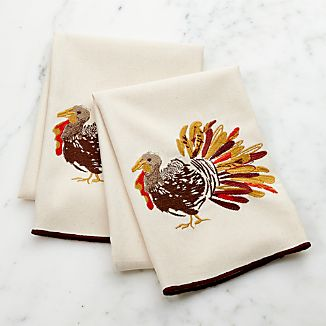 Thanksgiving Turkey Dish Towels, Set of 2