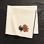 Thanksgiving Turkey Embroidered Dinner Napkin