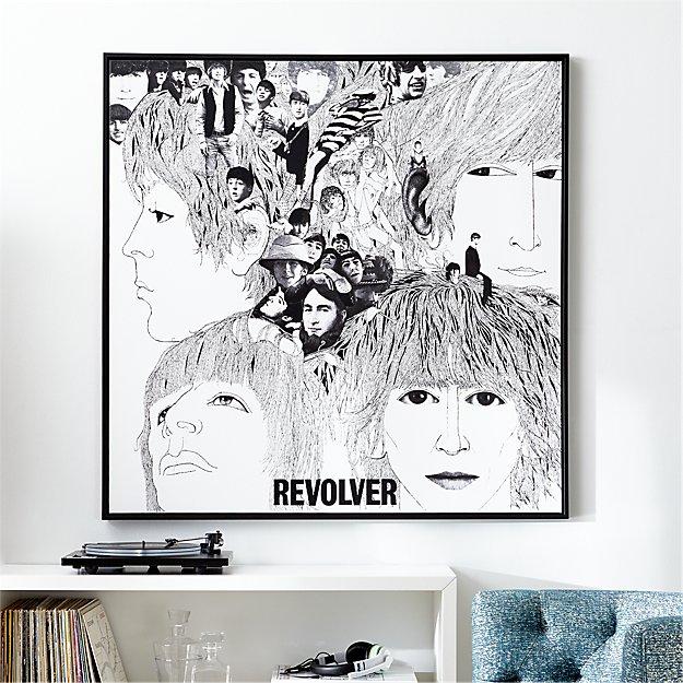 The Beatles Revolver Album Cover Print Crate And Barrel