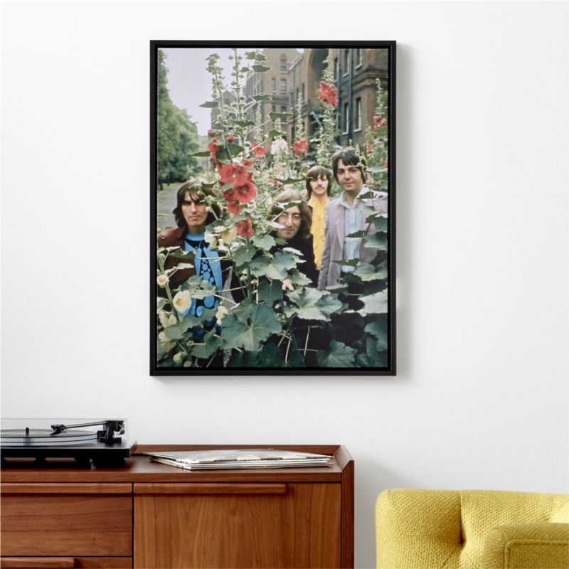The Beatles With Flowers Print by Crate&Barrel