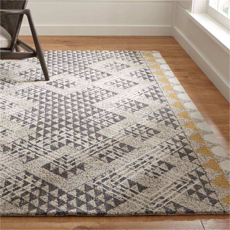 Thea Hand Hooked Wool Rug Crate And Barrel Canada