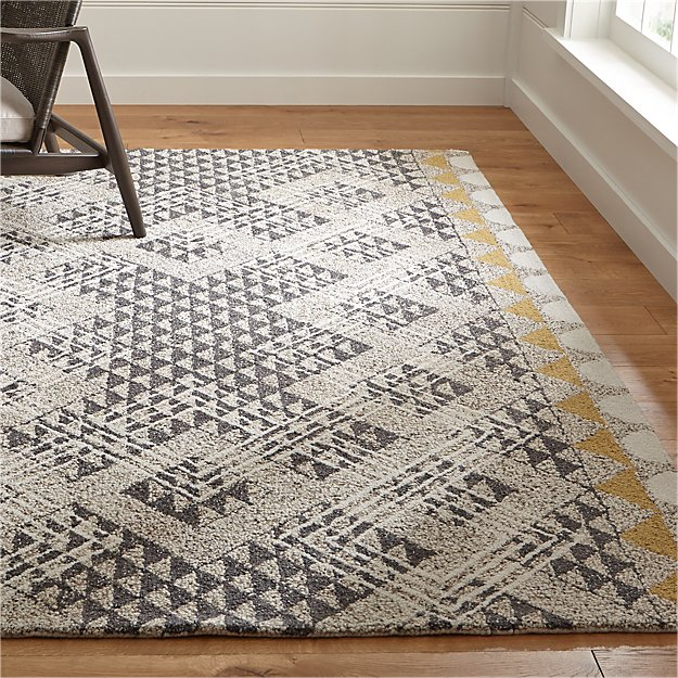 Thea hand hooked wool rug crate and barrel for Best area rug websites