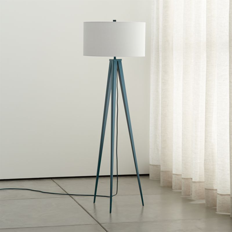 Theo Blue Floor Lamp Reviews Crate And Barrel