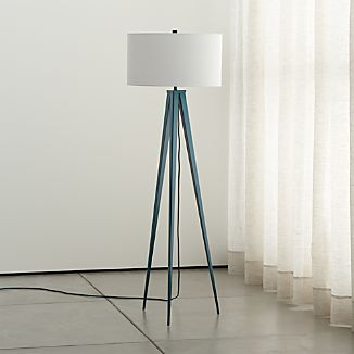 Theo Blue Floor Lamp
