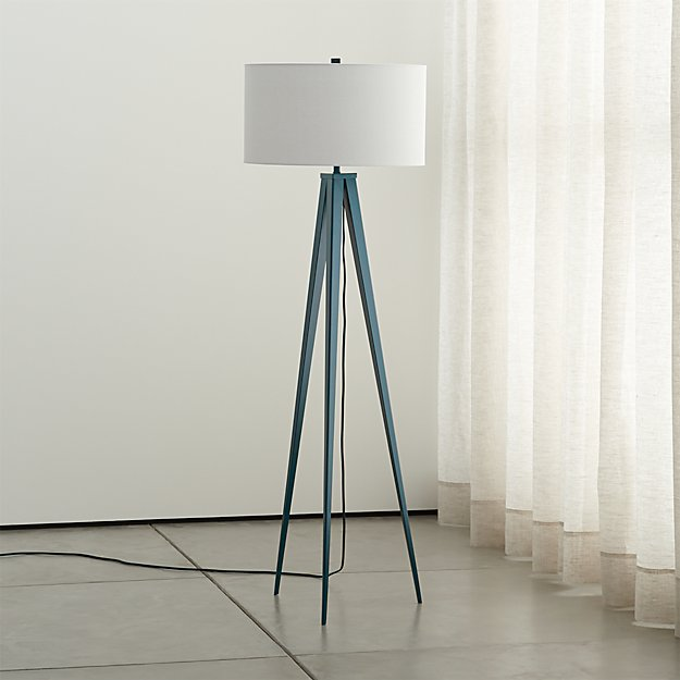 Theo Blue Floor Lamp - Image 1 of 9