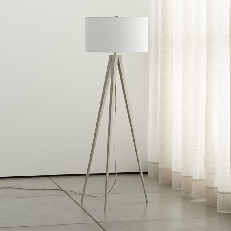 Theo grey floor lamp reviews crate and barrel aloadofball Gallery