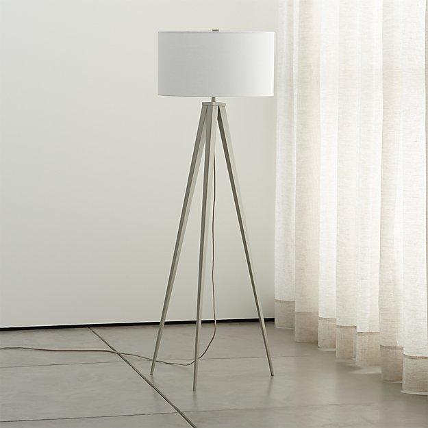 Crate and Barrel Exclusive. Theo Grey Floor Lamp - Theo Grey Floor Lamp Crate And Barrel