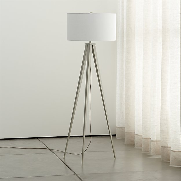 - Theo Grey Floor Lamp Crate And Barrel