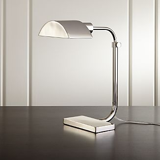 Theorem Polished Nickel Desk Lamp
