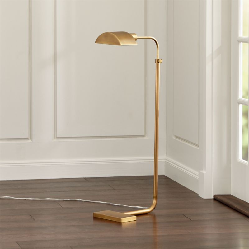 Theorem aged brass floor lamp reviews crate and barrel aloadofball Images
