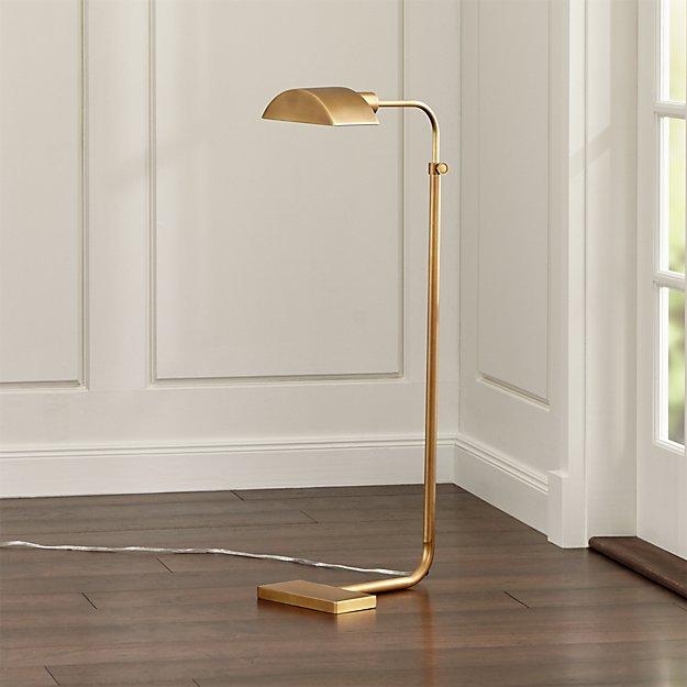 Theorem Aged Brass Floor Lamp
