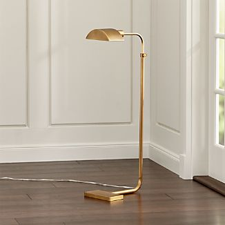 Theorem Aged Brass Floor Lamp