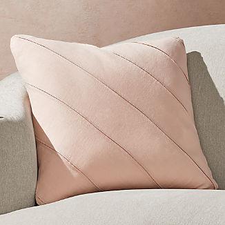 "Theta Blush Linen Pillow 20"""