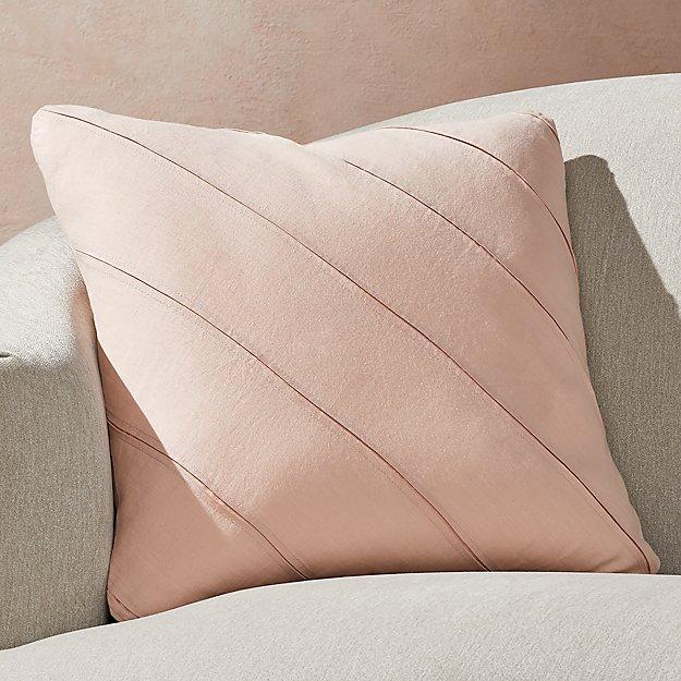 "Theta Blush Linen Pillow 20"" - Image 1 of 6"
