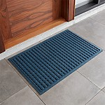 "Thirsty Dots â""¢ Blue 34 x22  Doormat"