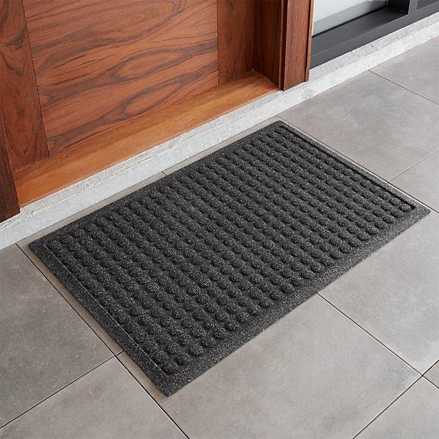 Thirsty 22x34 charcoal grey doormat crate and barrel for Indoor front door mat