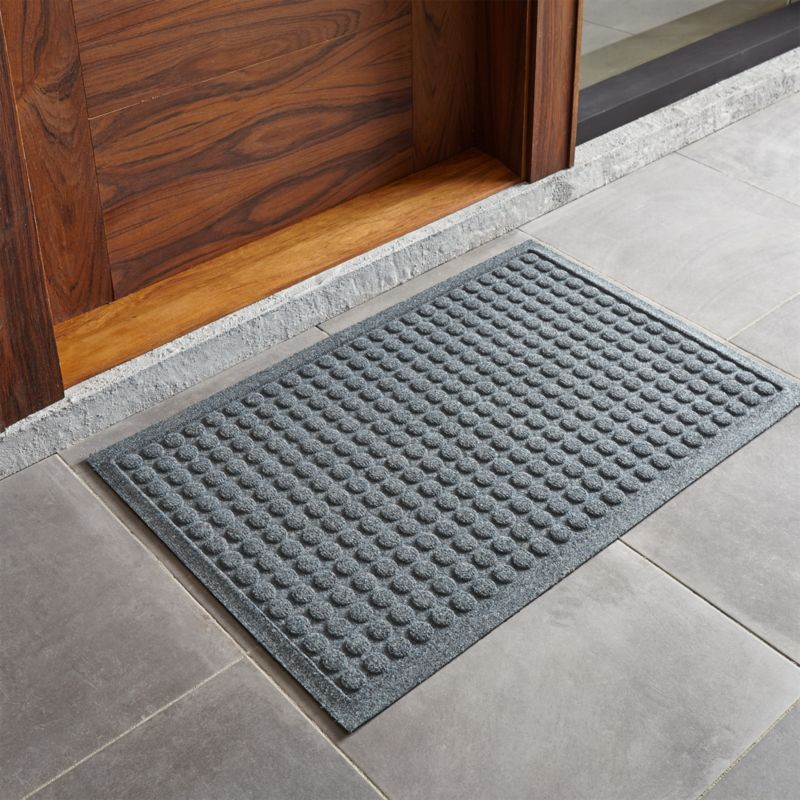 Thirsty Dots Green Doormat | Crate and Barrel