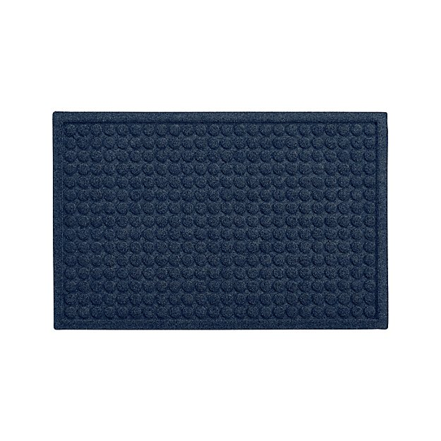 """Thirsty Dots ™ Blue 34""""x22"""" Doormat - Image 1 of 4"""