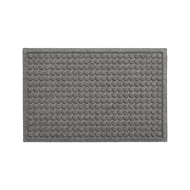 "Thirsty Dots ™ Light Grey Doormat 22""x34"" - Image 1 of 2"