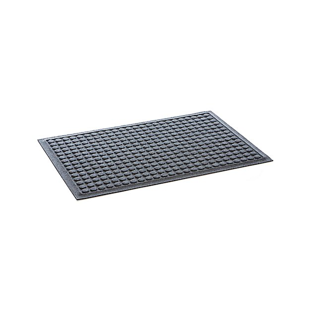 Thirsty Dots Grey Doormat Reviews Crate And Barrel