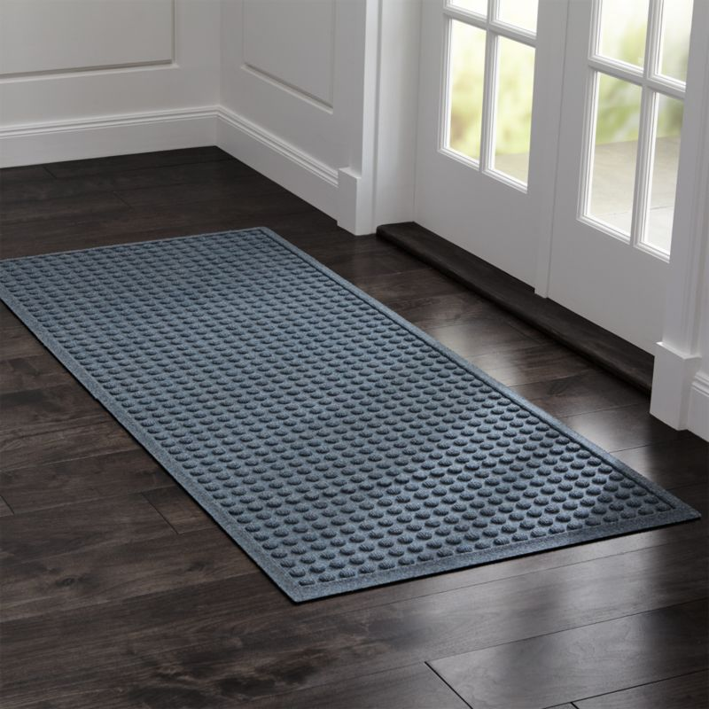 Thirsty Dots Grey Large Doormat | Crate and Barrel