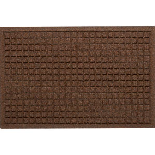 "Thirsty Squares ® Brown 22""x34"" Mat"