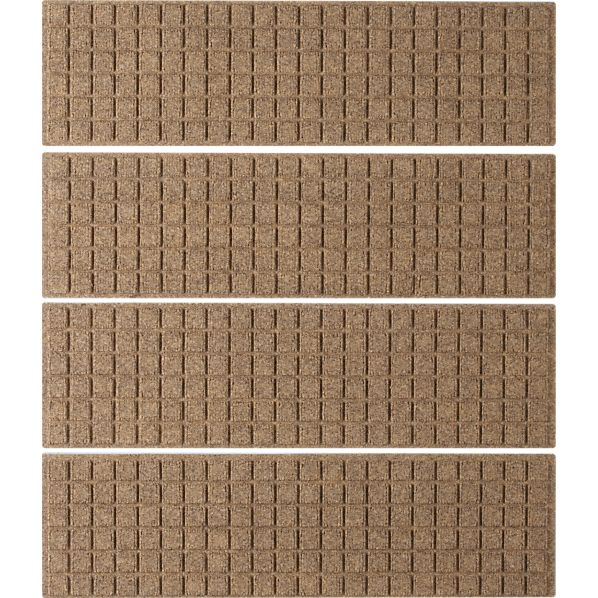 Set of 4 Thirsty Squares ® Natural Stair Treads