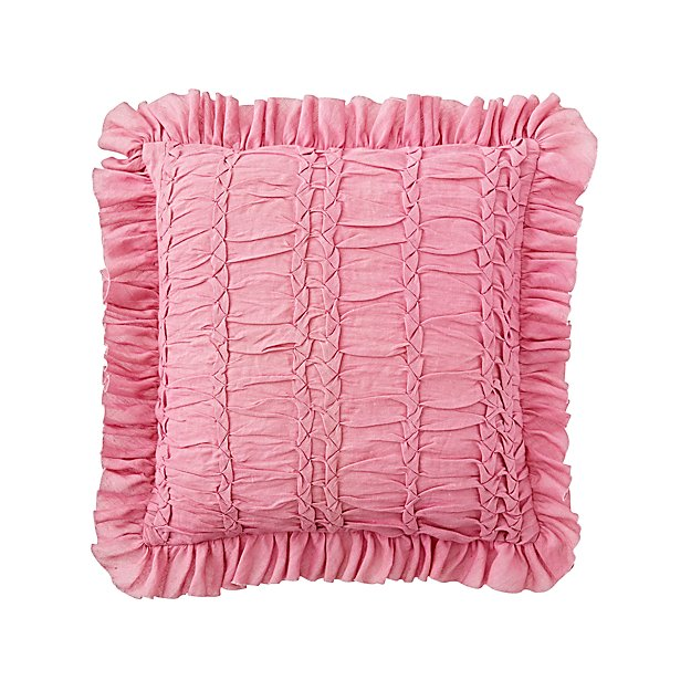 Pink Ruffle Throw Pillow Crate And Barrel