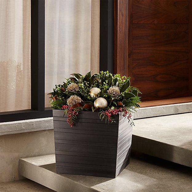 alfresco square 16 planter crate and barrel. Black Bedroom Furniture Sets. Home Design Ideas