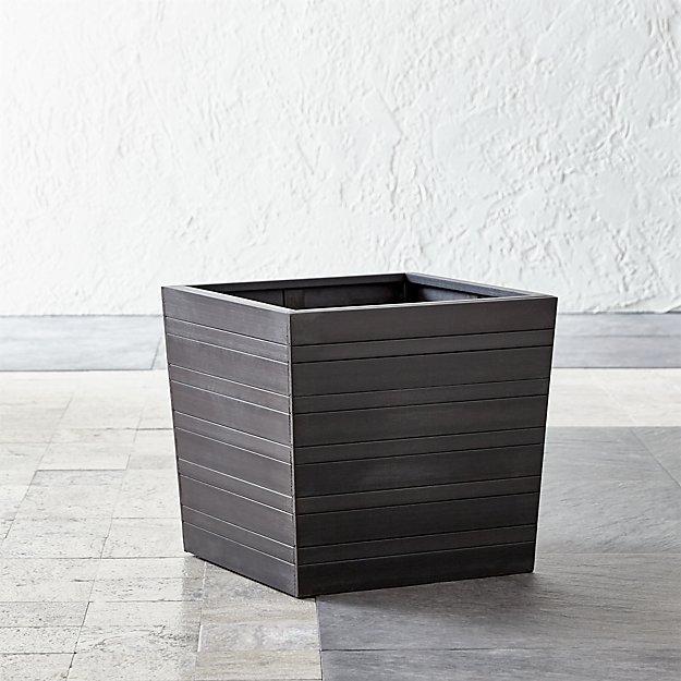 tidore square 16 planter crate and barrel. Black Bedroom Furniture Sets. Home Design Ideas