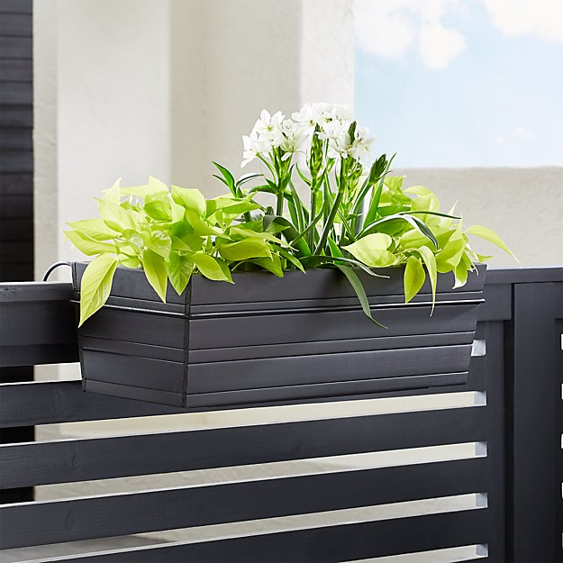 tidore deck rail planter crate and barrel. Black Bedroom Furniture Sets. Home Design Ideas