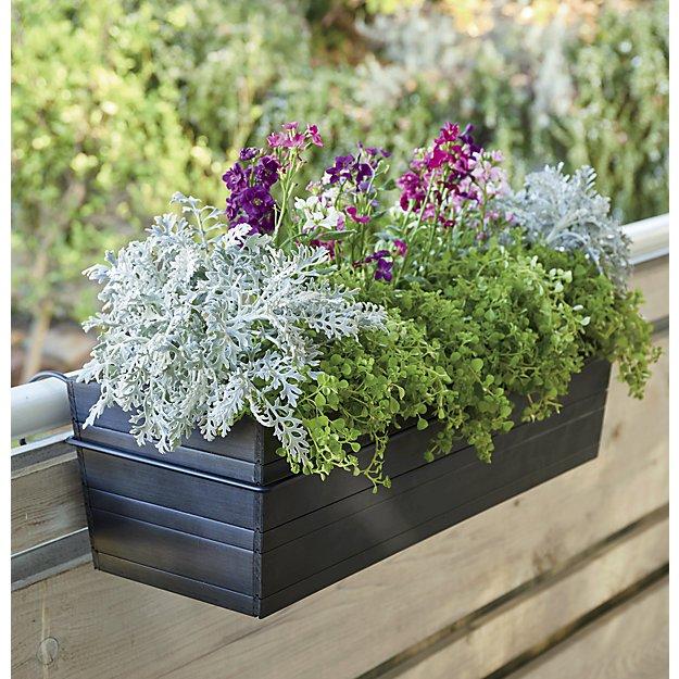 rail planters window box