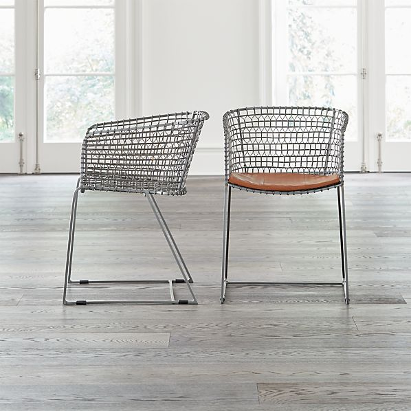 Tig Metal Barrel Dining Chair With