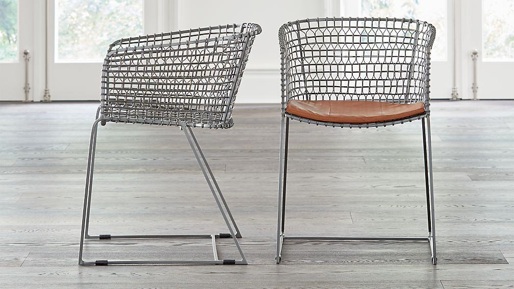 Tig Metal Barrel Dining Chair with Cushion - Image 1 of 12