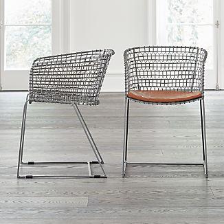 Tig Metal Barrel Dining Chair with Cushion