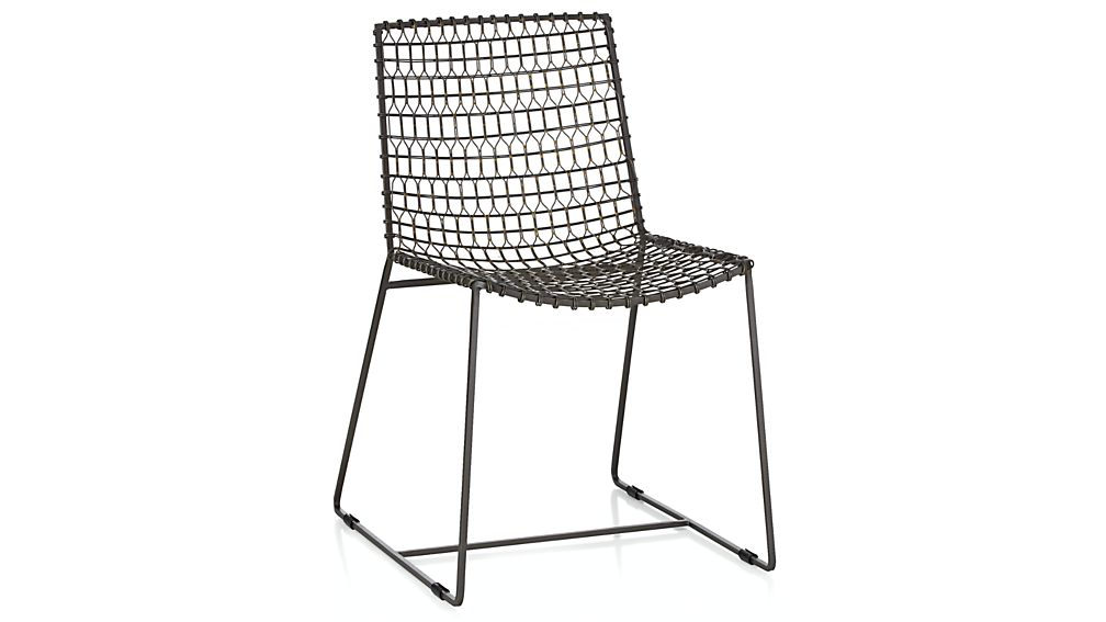 Preferred Tig Metal Dining Chair + Reviews | Crate and Barrel DN43
