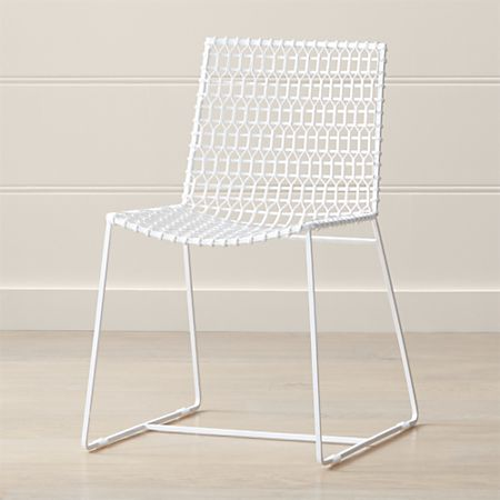 Tig Indoor Outdoor White Metal Dining Chair