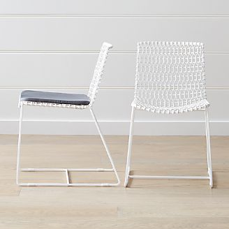 3a8ef59f0b80f Tig Indoor Outdoor White Metal Dining Chair