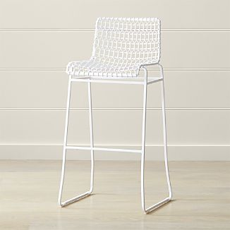Tig Indoor/Outdoor White Metal Bar Stool