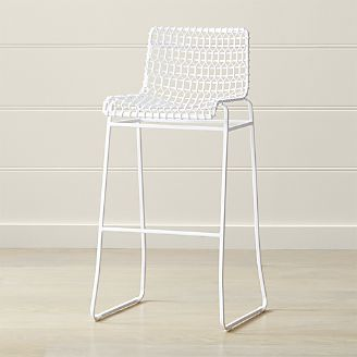 Tig White Indoor/Outdoor Bar Stool