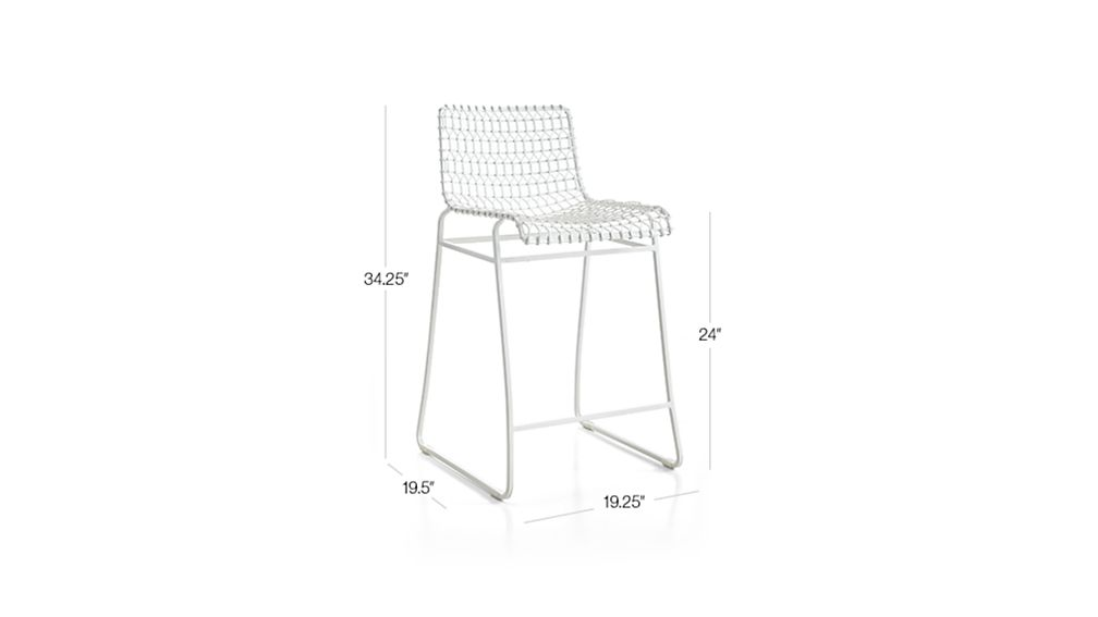 Tig Indoor Outdoor White Metal Counter Stool Reviews