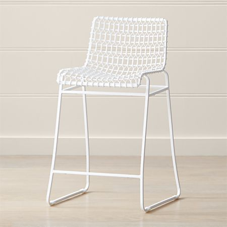 Super Tig Indoor Outdoor White Metal Counter Stool Alphanode Cool Chair Designs And Ideas Alphanodeonline