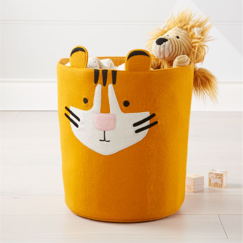 Tiger Orange Toy Bin Reviews Crate And Barrel