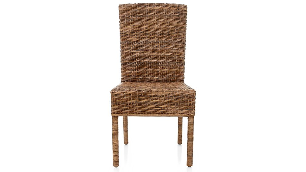 Tigris dining chair and natural cushion crate and barrel - Crate and barrel parsons chair ...