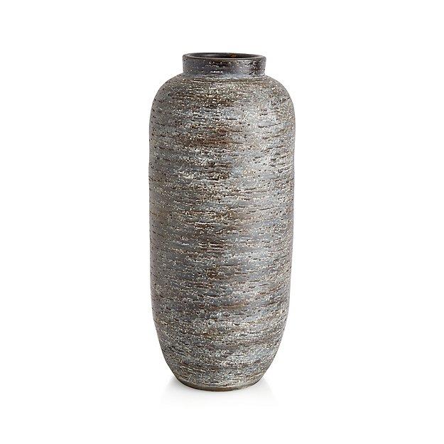 Timber Grey Floor Vase Crate And Barrel